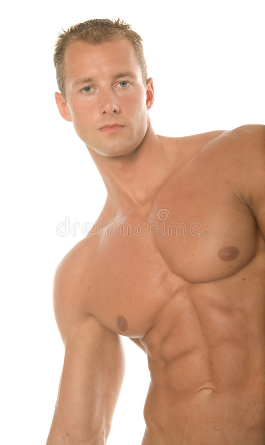 Construtor de corpo 'sexy' fotografia de stock royalty free