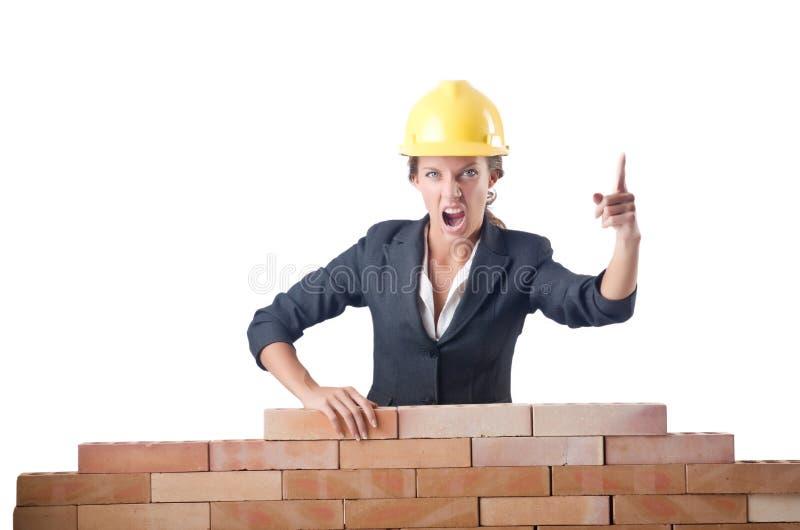 Construtor fêmea novo imagens de stock