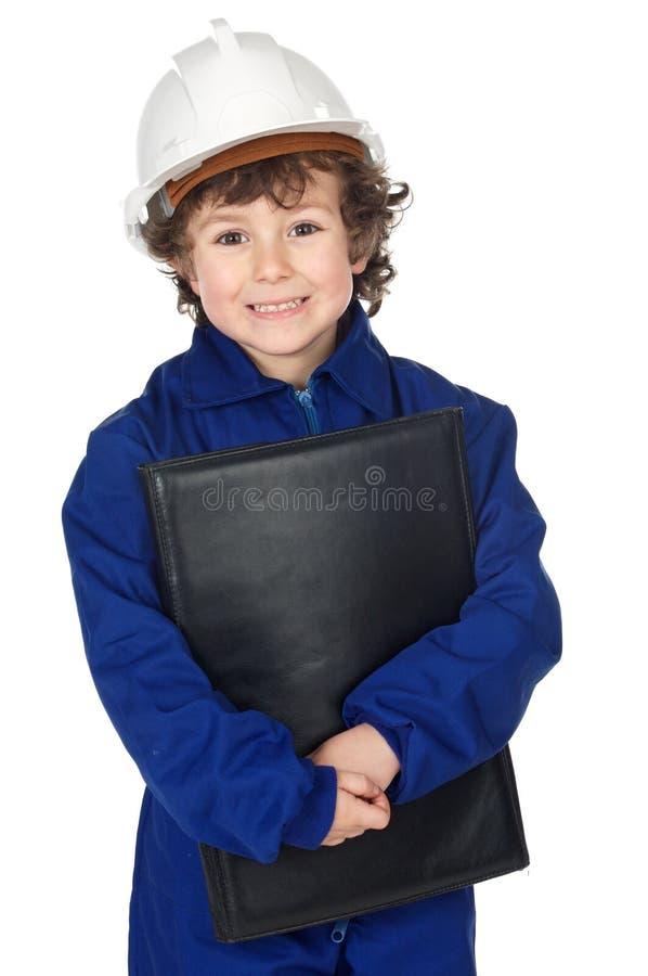 Construtor futuro adorável imagem de stock
