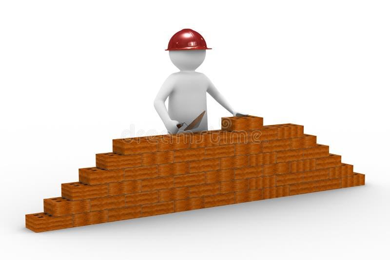 Construtor no fundo branco ilustração royalty free
