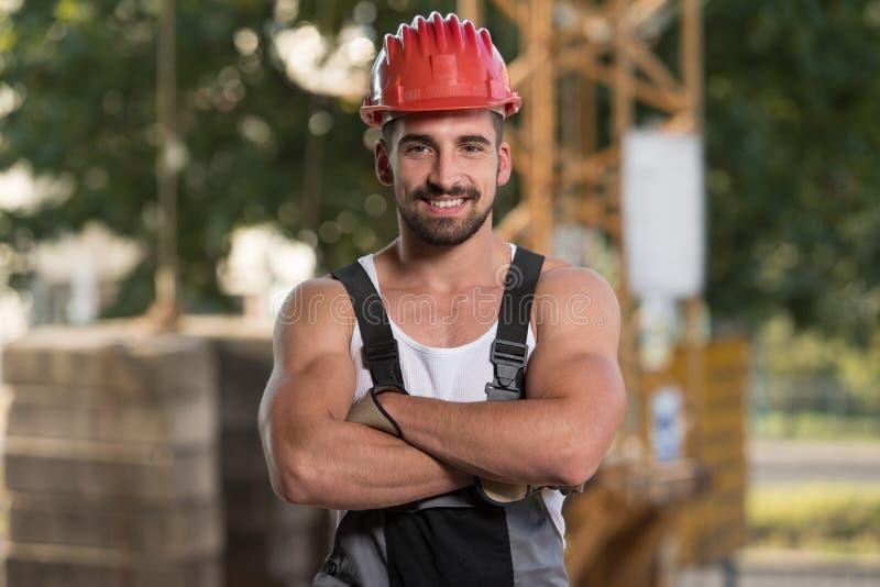 Construtor novo At Construction Site do coordenador fotografia de stock