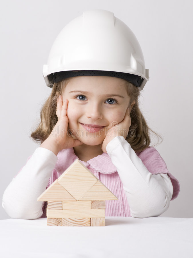 Construtor pequeno foto de stock