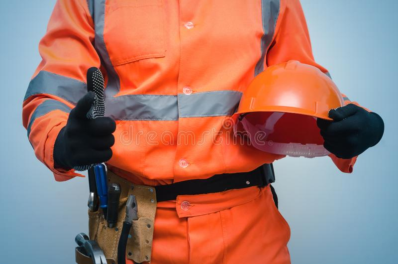 Construtor repairman imagem de stock royalty free