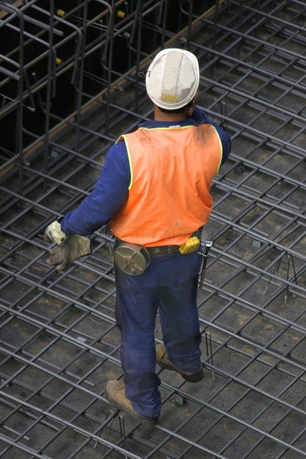 Construtor solitário fotografia de stock