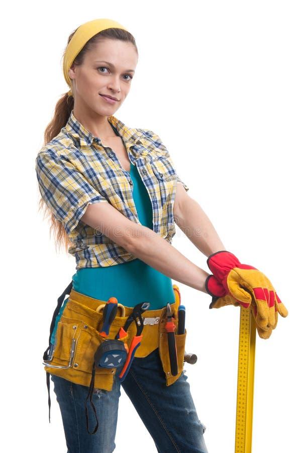 Construtor Woman imagem de stock royalty free