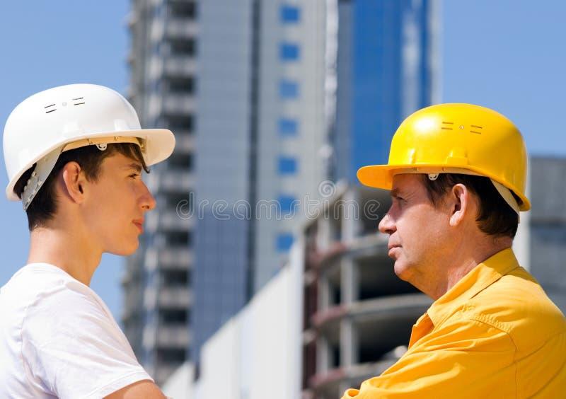 Construtores imagens de stock royalty free