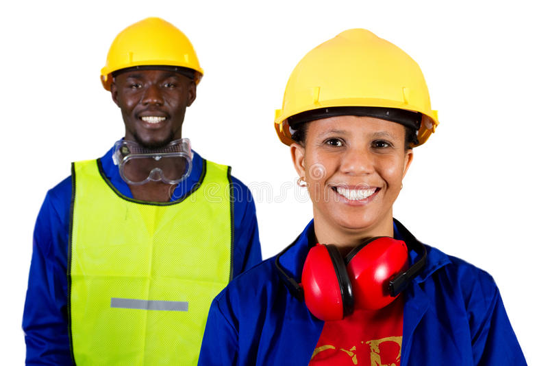 Construtores africanos fotografia de stock