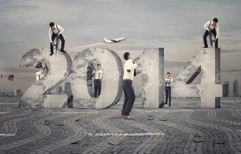 Construtores do ano novo fotografia de stock