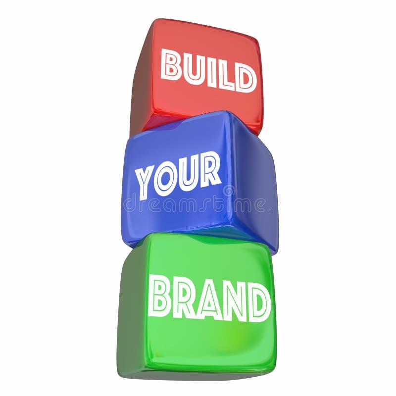 Construya su plan de márketing de negocio de Brand Company ilustración del vector