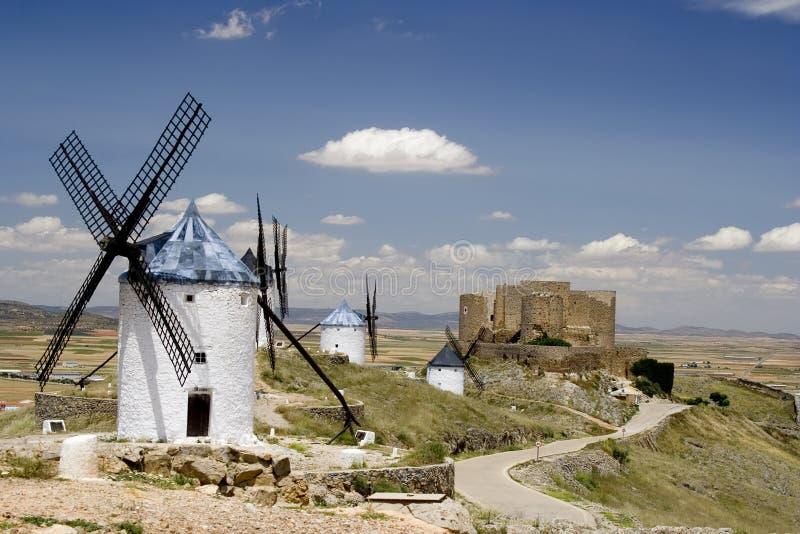 Consuegra, Castilla La Mancha royalty free stock photos