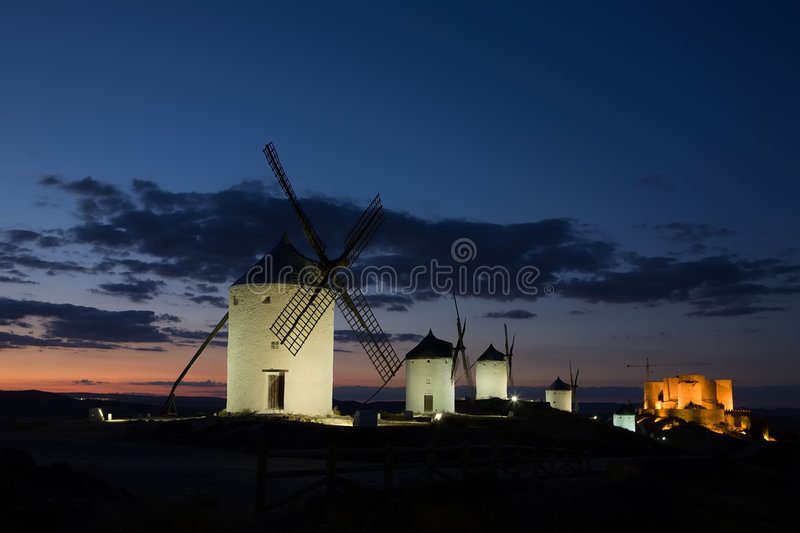 Download Consuegra At Dusk Stock Photography - Image: 6474752