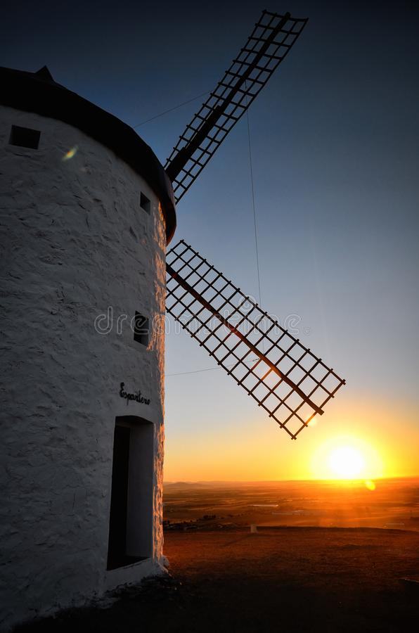Free Consuegra Is A Litle Town In The Spanish Region Of Castilla-La Mancha, Famous Due To Its Historical Windmills, Espartero Is The Wi Stock Photo - 117641790