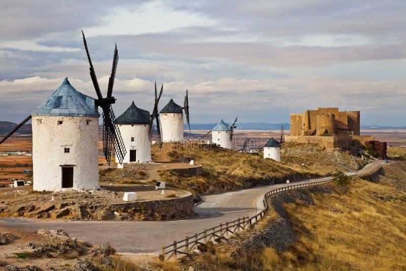 Consuegra - la Spagna fotografie stock libere da diritti