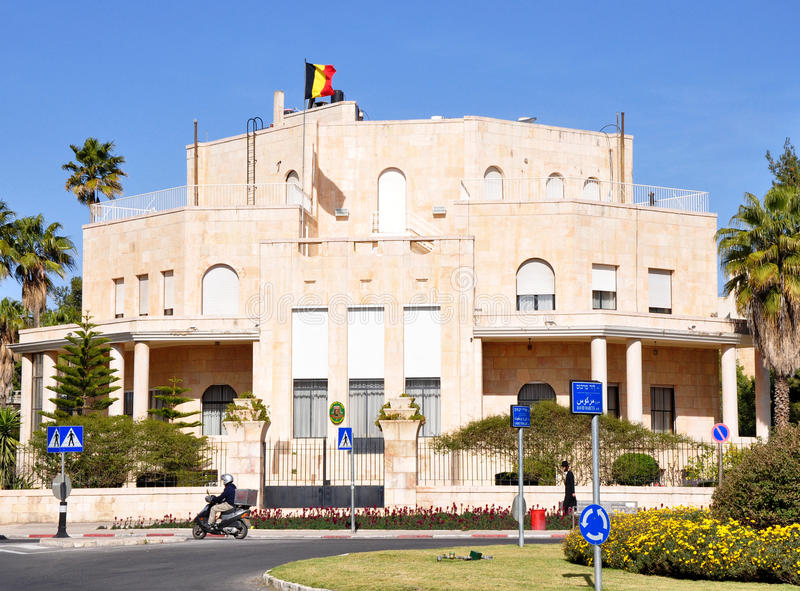 Consulado belga, Jerusalem. fotos de stock royalty free