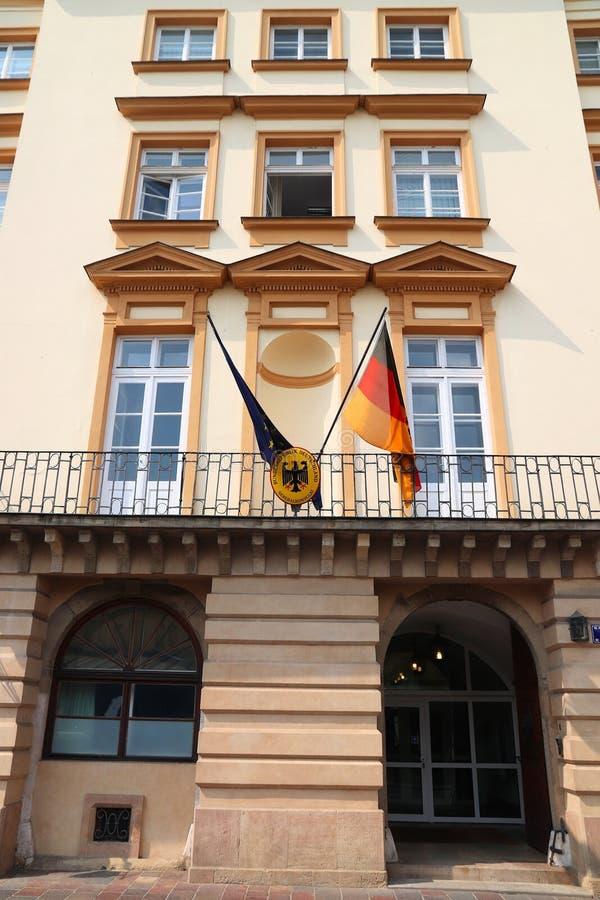 Consulado de Alemania fotografía de archivo