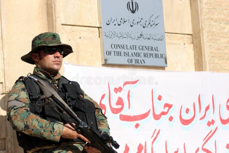 Consulado de Arbil Ä°ran imagen de archivo