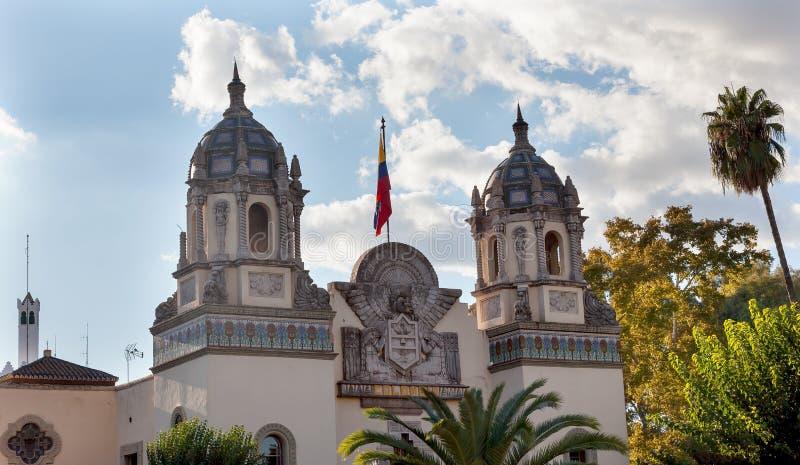 Consulado de Colombia/pabellón Sevilla España imagen de archivo libre de regalías