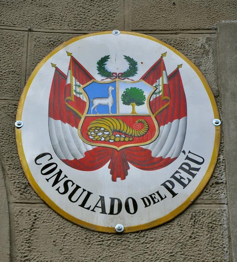 Consulado de Perú imagen de archivo