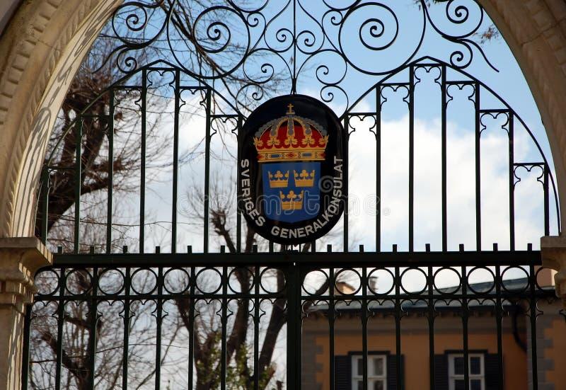 Consulado de Suecia imagenes de archivo