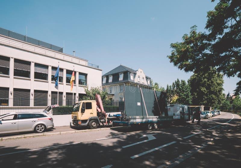 Consulado general de Alemania en Quai Mullenheim fotografía de archivo