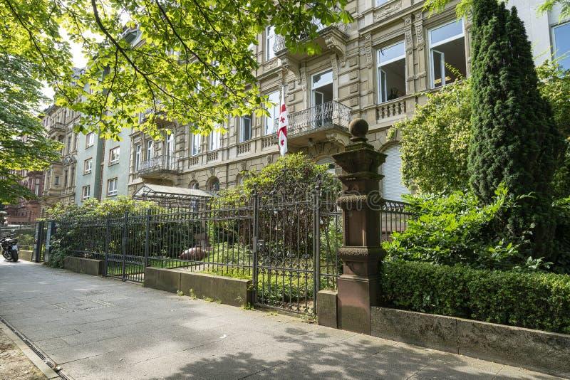 Consulado general de Georgia en Francfort fotos de archivo libres de regalías
