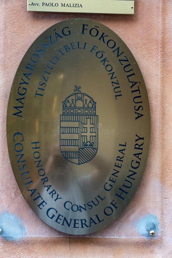 Consulado general de Hungría imagen de archivo libre de regalías