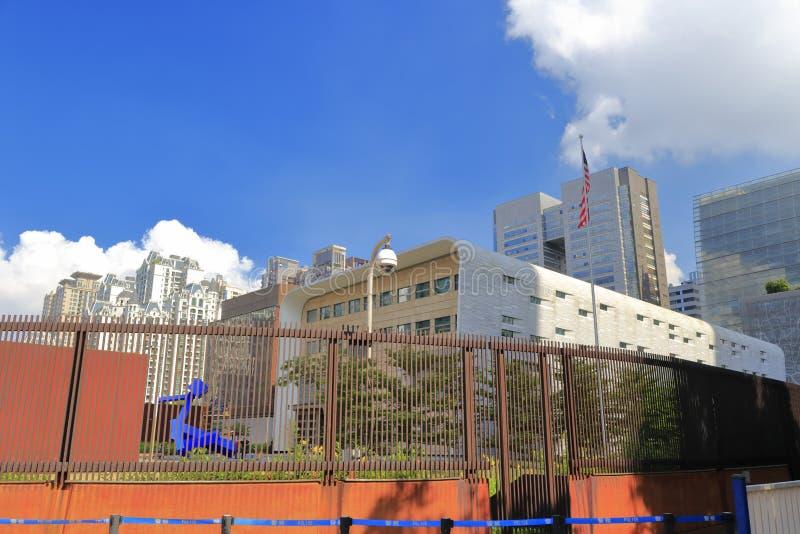 Consulado general de los E.E.U.U. en Guangzhou fotografía de archivo