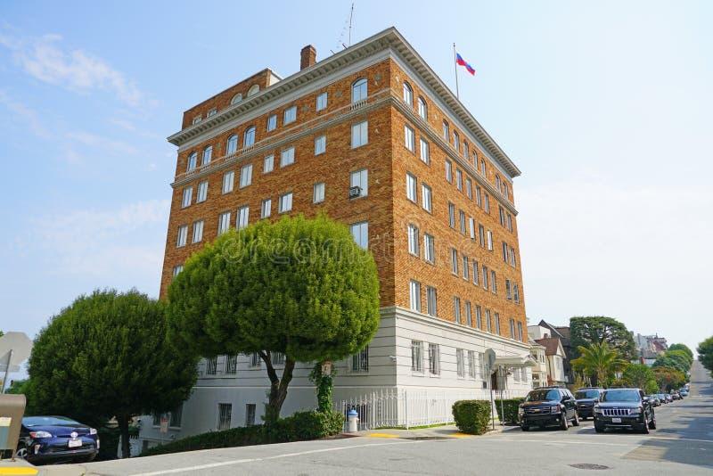 Consulado general ruso en San Francisco, los E.E.U.U. imagen de archivo libre de regalías