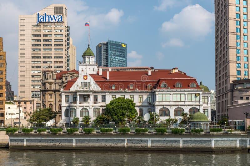 Consulado general ruso en Shangai fotografía de archivo