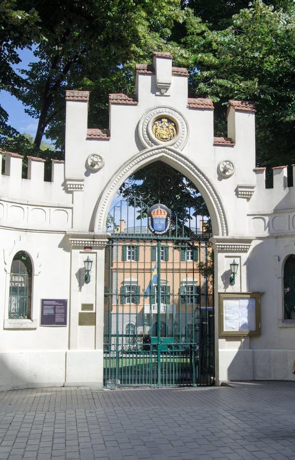 Consulado sueco, Estambul imagenes de archivo