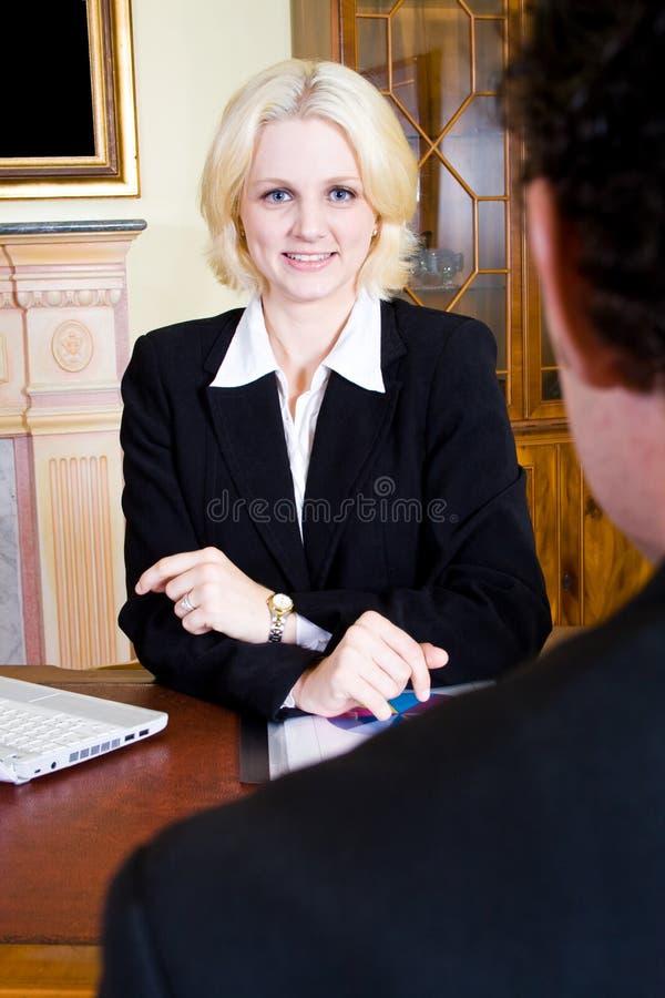 Consulente in materia di affari immagini stock