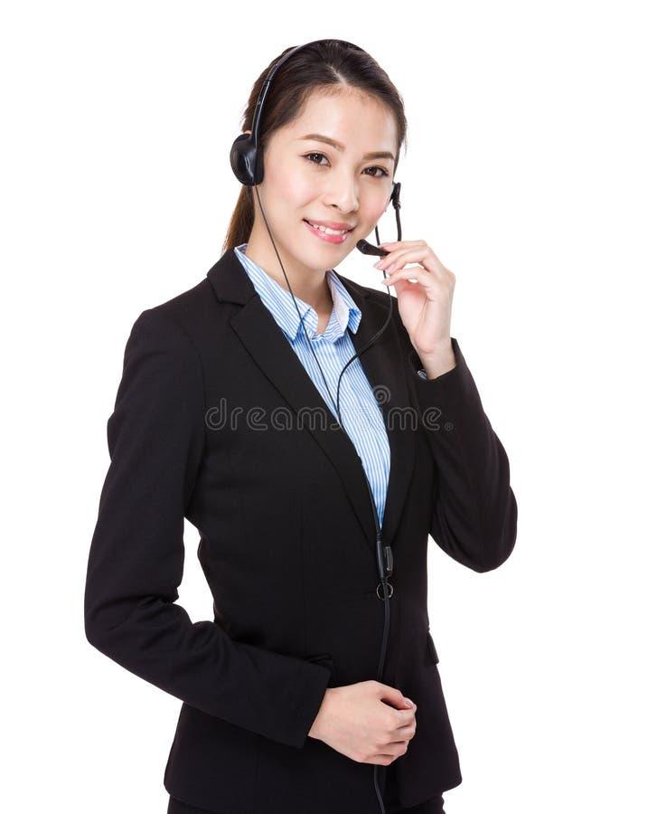 Consulente in materia di servizi di assistenza al cliente fotografie stock libere da diritti