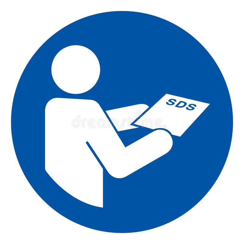 Consult SDS Sheet Symbol Sign,Vector Illustration, Isolated On White Background Label. EPS10 stock illustration
