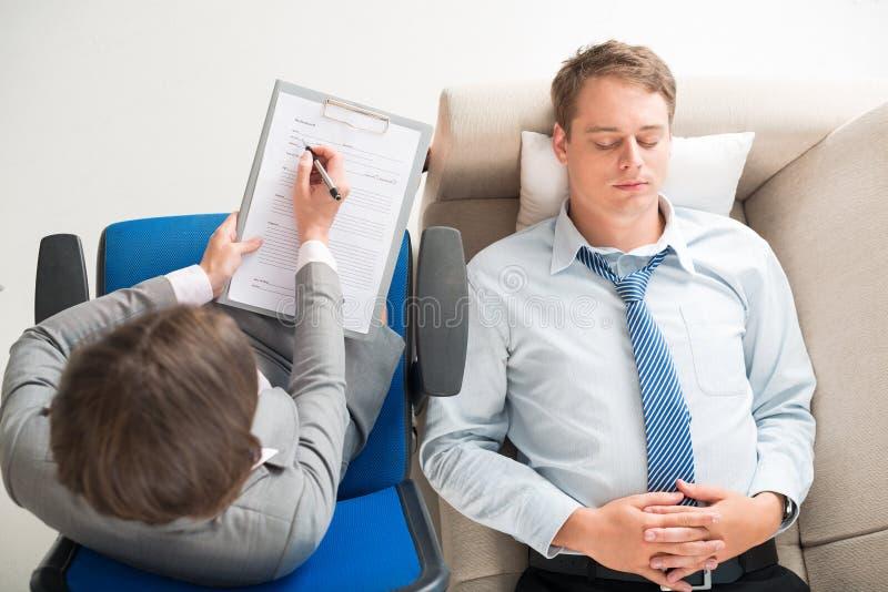 Consulta com psicólogo imagens de stock