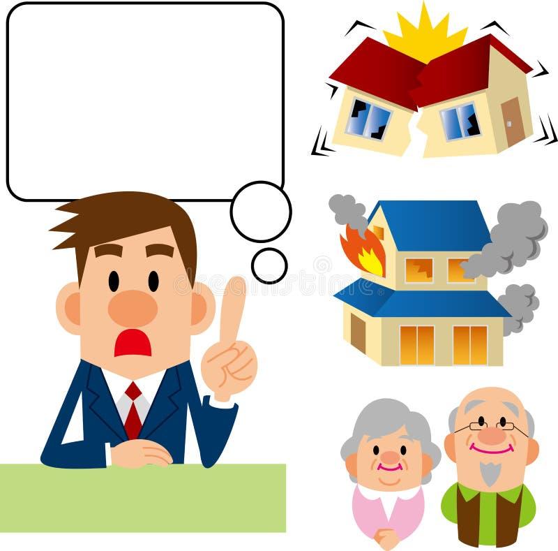 Consulta del seguro stock de ilustración