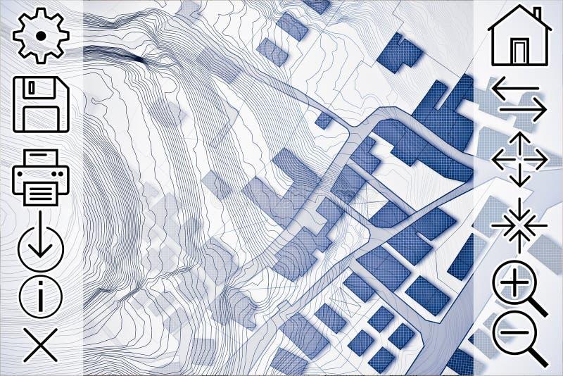 Consulta en línea de mapas catastrales y del informatio territorial libre illustration