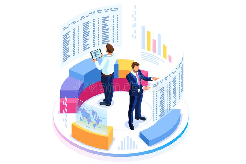 Consulta financiera para la bandera del negocio ilustración del vector