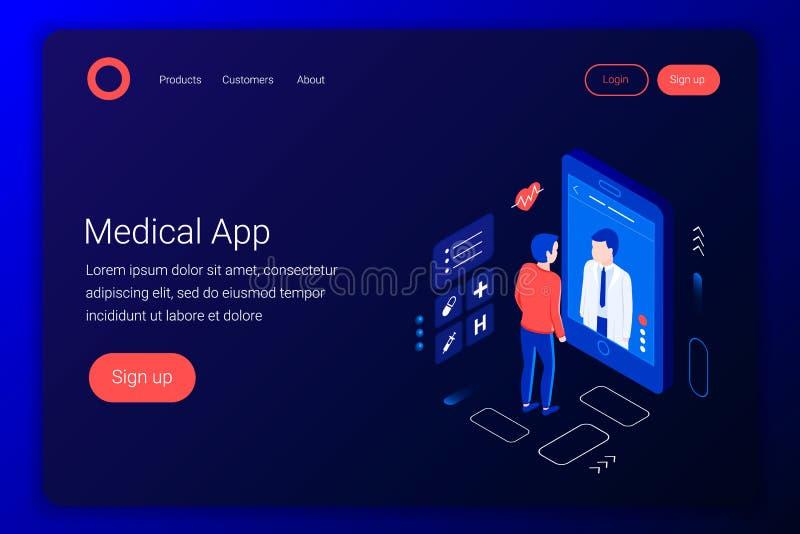 Consulta médica stock de ilustración