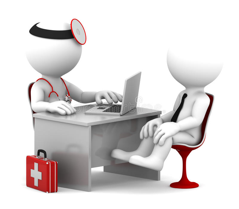 Consulta médica. ilustración del vector