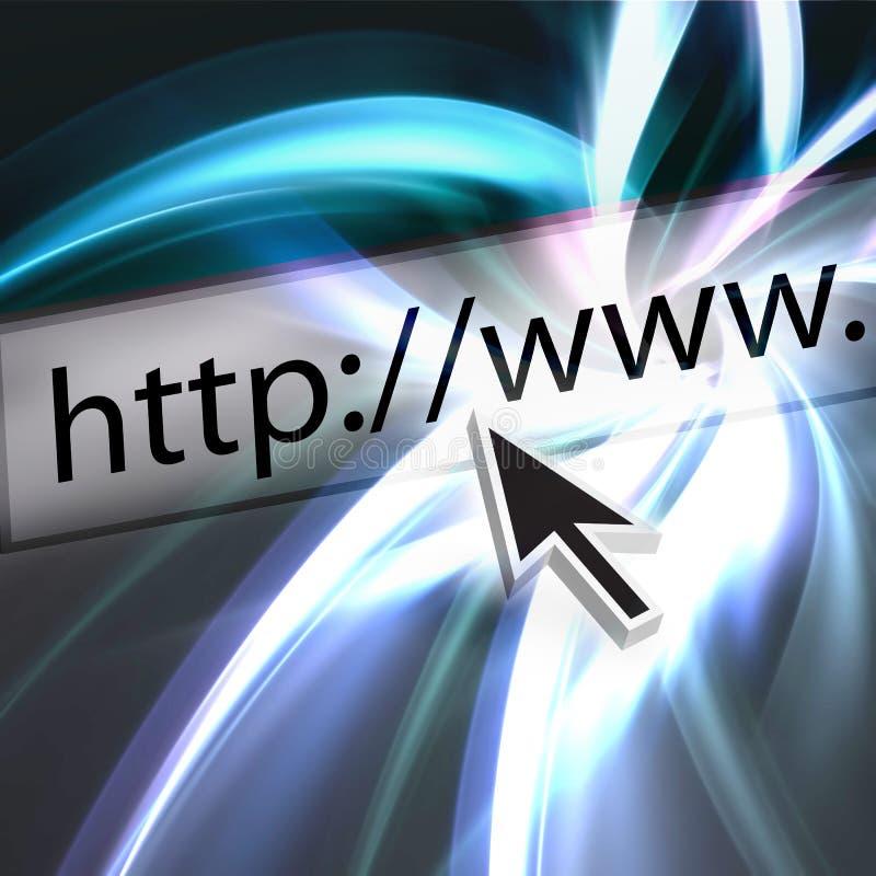 Consultando o Web ilustração royalty free