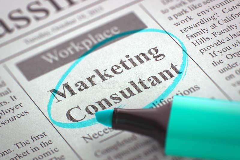 Consultant du marketing Job Vacancy 3d rendent illustration libre de droits