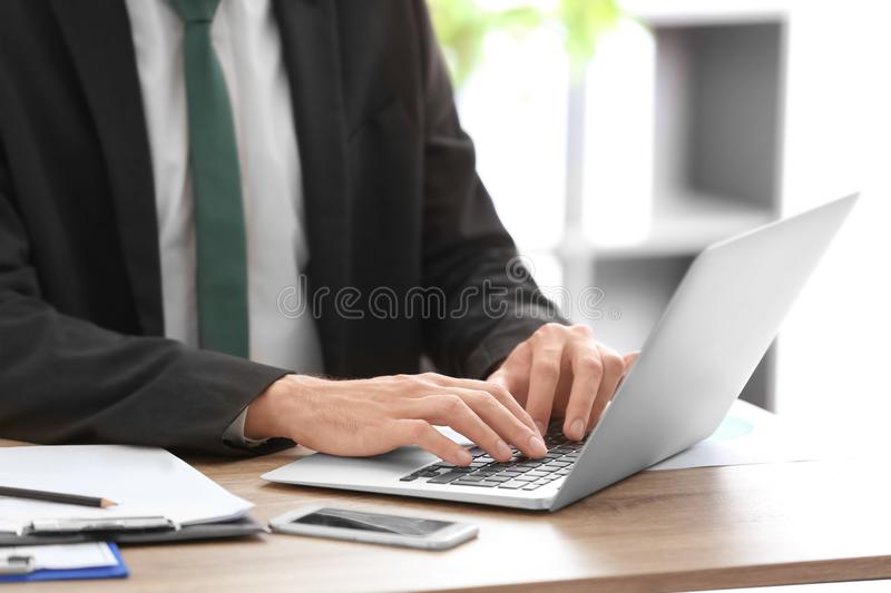 Consultant working at table royalty free stock images