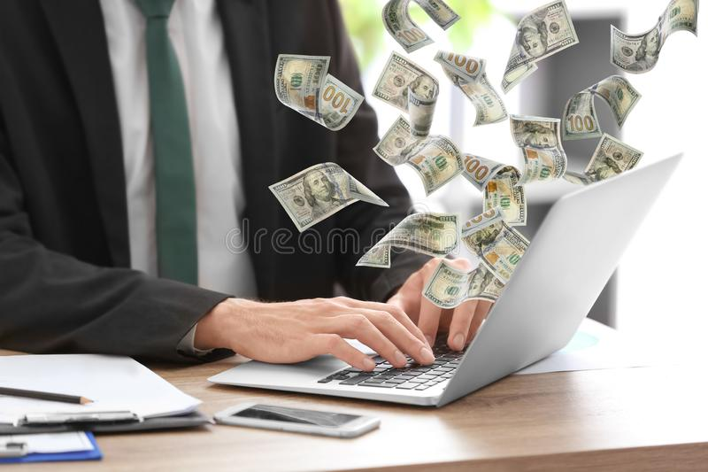 Consultant working at table royalty free stock photography