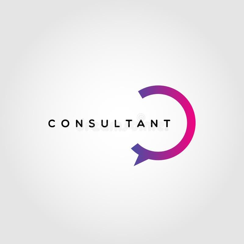 Consultante colorido Logo Design Template ilustração do vetor