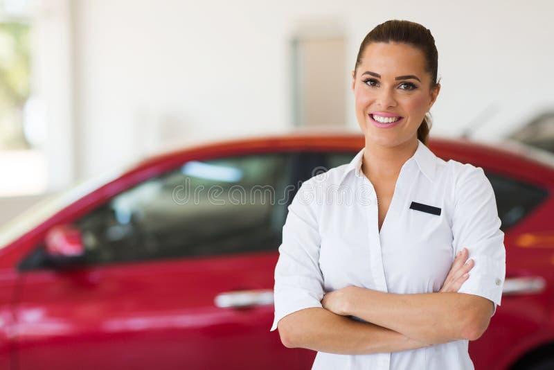 Consultante das vendas do carro imagens de stock