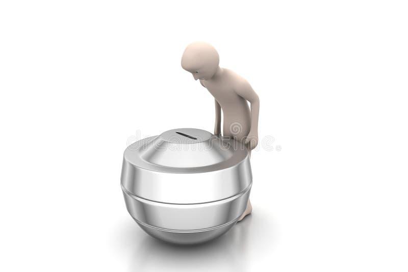 consultante de investimento da finança 3d ilustração do vetor