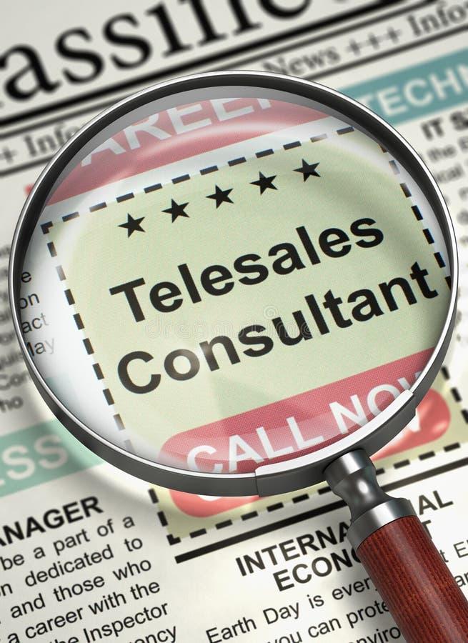 Consultante Join Our Team de Telesales 3d fotos de stock royalty free
