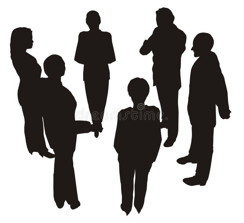 Consultation 2 d'affaires illustration libre de droits