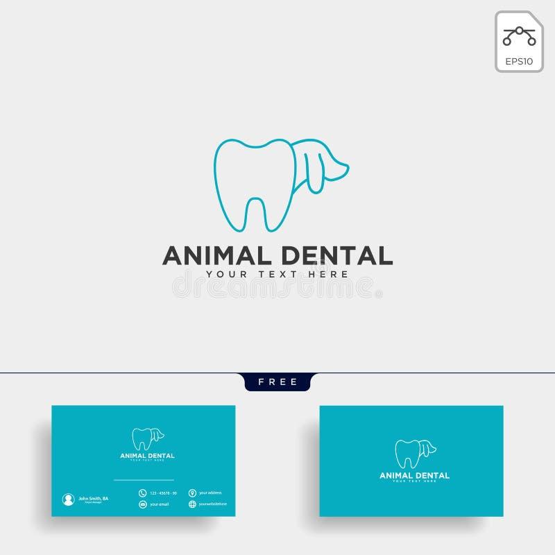 consultation animale dentaire, illustration de vecteur de calibre de logo illustration de vecteur