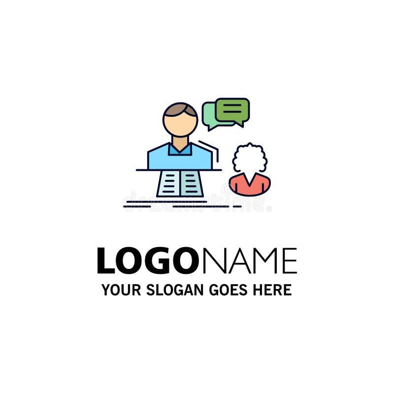 consultation, causerie, réponse, contact, vecteur plat d'icône de couleur de soutien illustration de vecteur